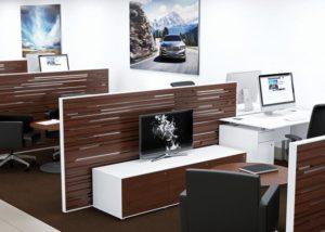 Large Car Dealership, Custom Kimball Furniture