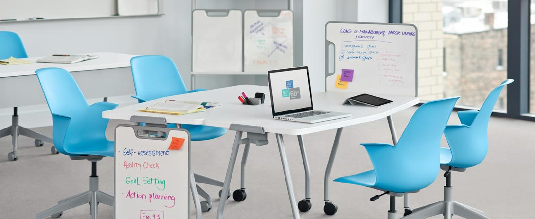 College, Steelcase Groupwork Table with Steelcase Node Chairs