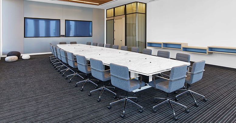 Financial Firm, Custom Millwork and Custom Steelcase